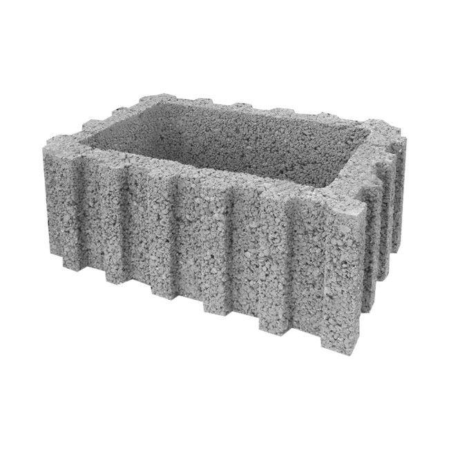 Chłodny Donica Betonowa Gazon Prostokątny Duży kamień do ogrodu kruszywa JV11
